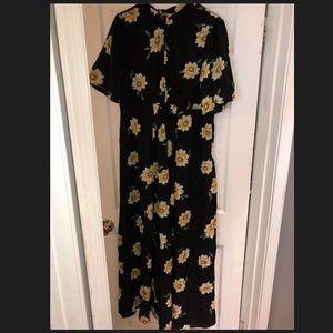 Black floral maxi dresss